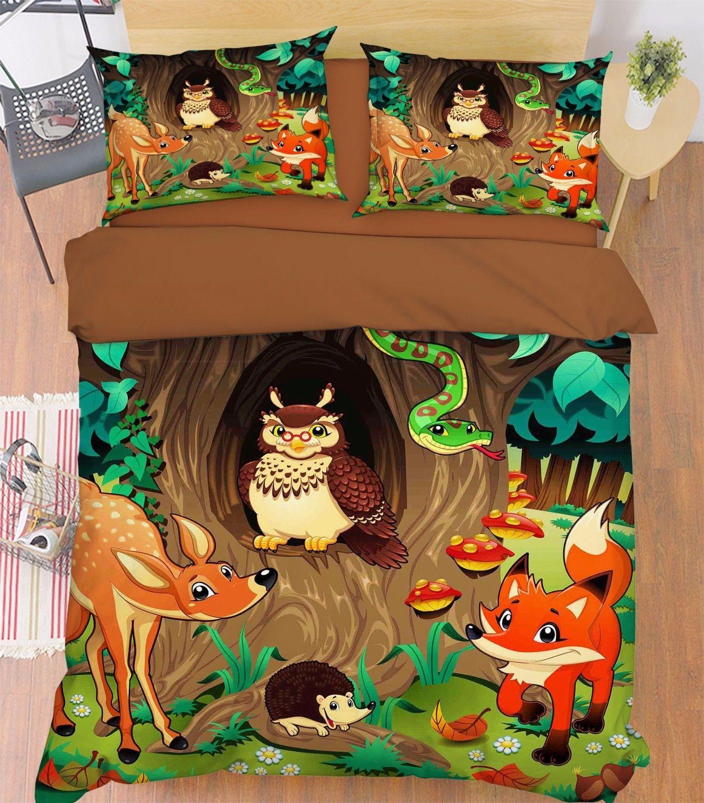3D Animals 279 Bed Pillowcases Quilt Duvet Cover Set Single Queen King Size AU - $90.04 - $122.20