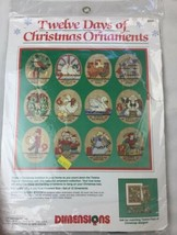 TWELVE DAYS OF CHRISTMAS ORNAMENTS 8390 COUNTED CROSS STITCH NEW Sealed Kit - $37.39
