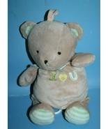 Carters Just One Year I Love U Musical Bear Pull Down Crib Toy Plush Hea... - $18.35