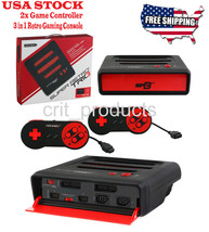 Super RetroTRIO Console NES/SNES/Genesis 3 in 1 System Red/Black Retro Trio - $64.95