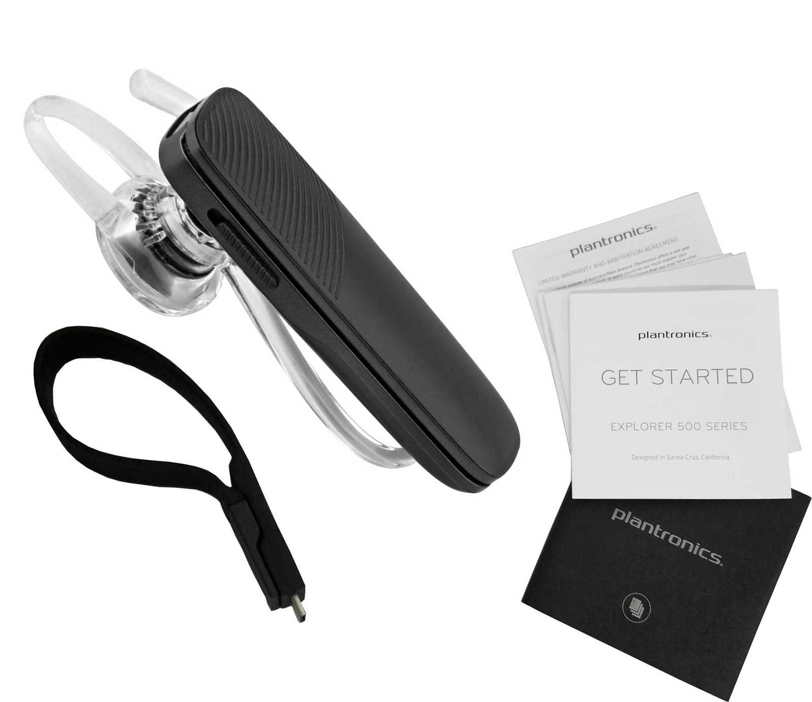 257cfc3687c 536036. 536036. Plantronics Explorer 500 Wireless HD Bluetooth Black Headset  ...