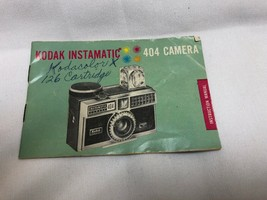 Kodak Instamatic 404 Camera Instruction Manual Vintage - $8.91