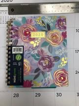 Mintgreen Pink Florals Monthly Weekly Planner 2020 Calendar 8.5 x 7.25 H... - $27.71