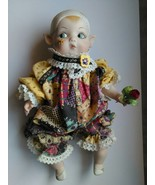 Vintage Kay Mckee Porcelain Bisque Bell Ceramics Fairy Elf Doll - $85.00