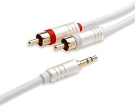 BlueRigger 3.5mm To 2RCA Male To Male Audio Auxiliary Stereo Y Splitter... - $16.48
