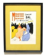 Vintage Toulouse Lautrec Moulin Rouge Print Silk Screened Modern Classic... - $359.99