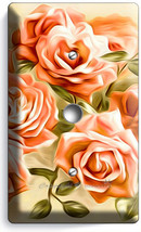 Beautiful Pink Roses Bouquet Light Dimmer Cable Wall Plate Cover Room Home Decor - $9.89