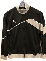 Nike Air Jordan Jumpman Mens Full Zip Sweat Track Jacket Black Gray -Med. - $25.11