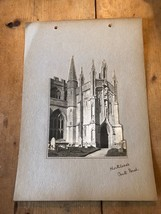 ANTIQUE/VINTAGE PHOTO OF SOUTH PORCH, NORTHLEACH CHURCH (ENGLAND) A4-SIZED - $6.36