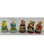 Miniature Stamp Set Easter Christmas Bears Lot Used - $8.96