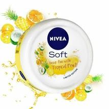 NIVEA Soft Light Moisturizer Cream-Tropical Fruit With Vitamin E & Jojob... - $13.90