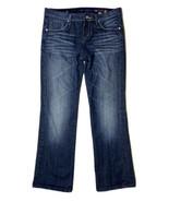 Vigoss Juniors Size 11 (34 X 31.5) Stretch Denim Bootcut Jeans Dark Wash - $19.80