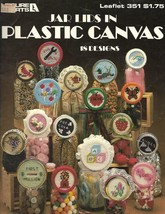 Jar Lids in Plastic Canvas Leisure Arts 351 18 Designs for All Occasions 1985 - $5.34