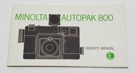 Vtg Minolta Autopak 800 Camera Owners Manual Booklet 24 page Book - $9.74
