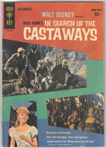 Walt Disney In Search of the Castaways Movie Comic Book Gold Key 1963 FI... - $23.14