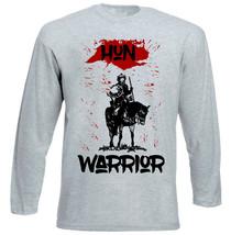 Hun Warrior - New Cotton Grey Tshirt - $27.10