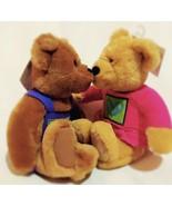 "Hallmark KISS KIsses BEARS 9"" Plush STUFFED ANIMAL Toy W/ Tag Rare Colle... - $22.26"