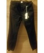 NEW Madison Women's Astor Mid-Rise Skinny Ankle Jean W/ Front Zipper Bla... - $13.50