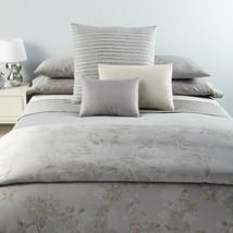 Calvin Klein Regent Damask Grey 3P Queen Duvet Cover Shams Set - $281.25