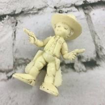 Child Cowboy Sherriff Figure Solid Plastic Cream-Colored Collectible Vin... - $9.89