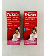 Tylenol Childrens Cold Cough Sore Throat Syrup Bubble Gum Lot of 2 11/2021 - $8.39