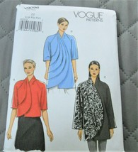 Pattern Vogue Jacket Loose Fit V9096 Uncut Factory Folded - $14.35