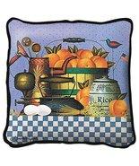 Peaches Throw Pillow - artist Charles Wysocki - $39.95