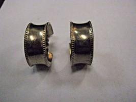 EARRINGS silver color hoop SCREW BACK earrings - $2.96