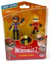 Disney Pixar Incredibles 2 Junior Supers 2 Pack Elastigirl And Dash - $12.95