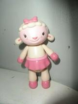 "Disney Junior Doc McStuffins Lambie 5"" Tall Plastic Poseable Action Figure - $3.96"