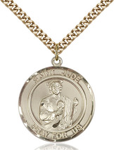 14K Gold Filled St. Jude Pendant 1 x 5/8 inch with 24 inch ChainRD - $175.44