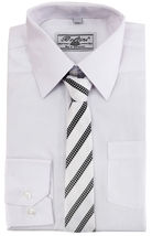 Boltini Italy Boys Kids Toddlers Long Sleeve Dress Shirt Set with Matching Tie image 8