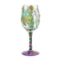 "Christmas Season of Light ""Designs by Lolita"" Wine Glass 9"" High Gift Boxed Gift image 2"