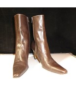 """COLE HAAN City Women's 9 AA Brown Leather 3"""" High Heel Ankle Boots Made ... - $22.24"""