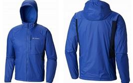 Columbia Men's Red Bluff Rain Jacket 1840691 Water & Wind Resistant, Azu... - $59.49