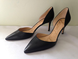 NEW! Sam Edelman Sexy Classic Black Leather Stiletto TELSA Heels Pumps 1... - $118.00