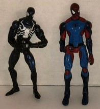 Spider-Man Lot of 6 Action Figures 2005 2006 Marvel Symbiote Comics Black Suit image 2