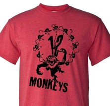 12 Monkeys T-shirt retro 1990s science fiction horror movie heather red tee image 1