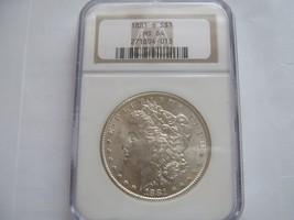 1881-S , Morgan Silver Dollar ,  NGC , MS 64 - $84.91