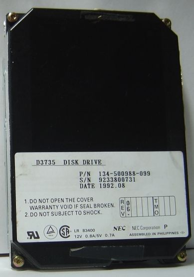 NEC D3735 134-500988-099 44MB 3.5IN IDE 40 pin Hard Drive Free USA Shipping