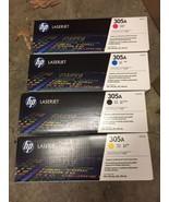 Set of HP Genuine OEM CE410A CE411A CE412A CE413A 305A Color Toner Cartr... - $290.24