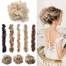 100% Real LARGE Thick Messy Bun Hairpiece NaturalHair Extension Curly image 2