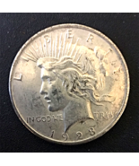 1923 P Peace Silver Dollar, Circulated, 90% Silver, Some Rubbing on Face... - $28.00