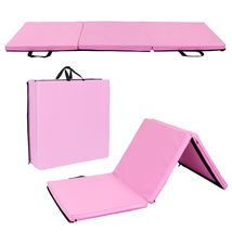 "New Folding Panel Gymnastics Mat Gym Exercise Yoga Tri Mat Pad 55"" x 24""... - $32.78"