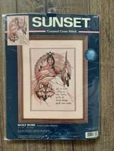 Sunset Counted Cross Stitch Wolf Robe Tribal Native Kit Marie Buchfink New - $19.99