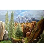 16 x 20 Original Canvas Painting...High Meadow - $39.00
