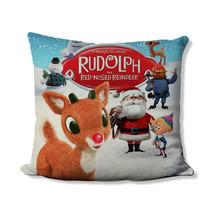 Christmas Movie Pillow - Santa and Rudolph Pillow Cover - Christmas Home Decor - - $19.99