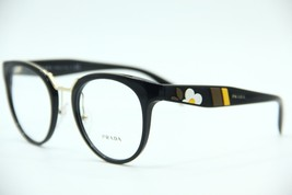 NEW PRADA VPR 03U 1AB-1O1 BLACK EYEGLASSES AUTHENTIC FRAMES RX VPR03U 51-22 - $148.67