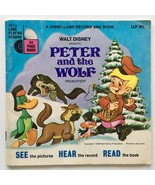 Peter And The Wolf (Story of) 7' Vinyl Record / Book, Disneyland - LLP 321 - £23.23 GBP