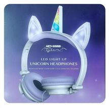 LED Light Up Unicorn Headphones Art + Sound Glam (ARH119PU)